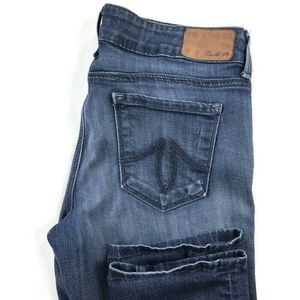 LEVEL 99 Dark Wash Blue Skinny Straight Jeans